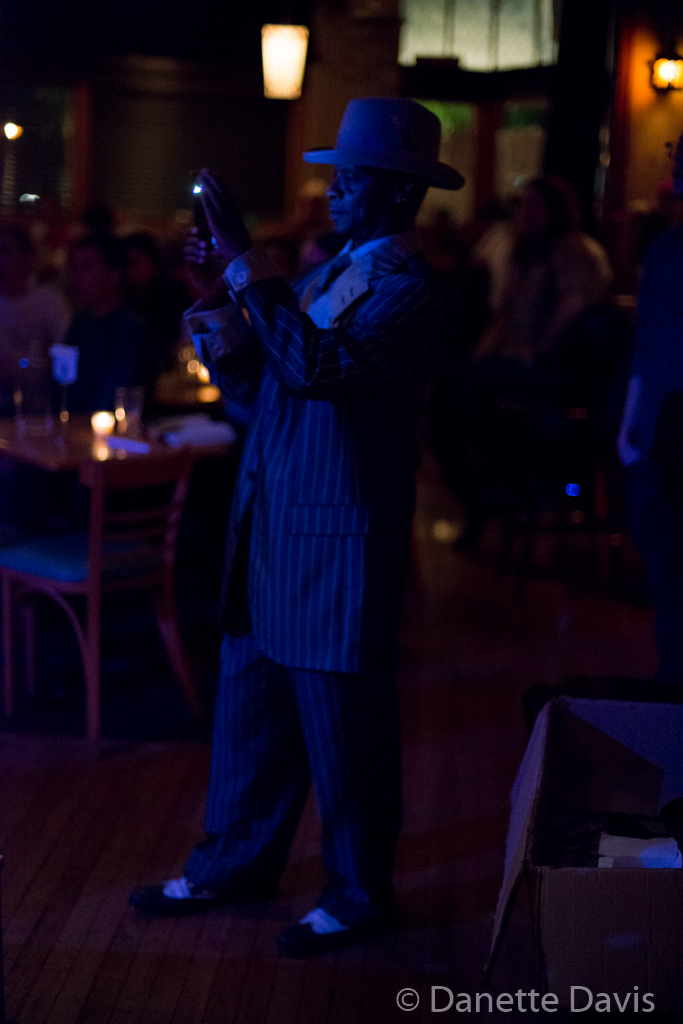 Northern Cantrips, Seaprog 2015, The Royal Room, 7 August, 2015. A dapper attendee (Photo by D. Davis)